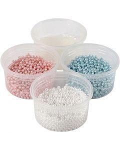 Pearl Clay® , azzurro, rosso chiaro, avorio, 1 set
