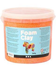 Foam Clay® , neon orange, 560 g/ 1 secch.