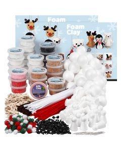 Set costruzioni Foam Clay, colori asst., 1 set