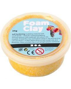Foam Clay® , giallo, 35 g/ 1 vasch.