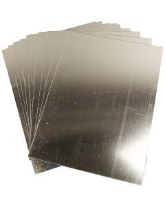 Foglio specchio di plastica, 29,5x21 cm, spess. 1,1 mm, 10 fgl./ 1 conf.
