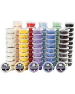 Silk Clay®, colori asst., 10x10 vasch./ 1 conf.