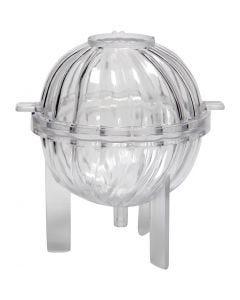Stampo per candela, sfera spirale, H: 70 mm, 1 pz