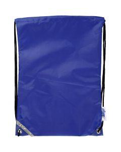 Sacchetto con chiusura a cordoncino, misura 31x44 cm, blu, 1 pz