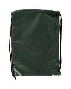 Sacchetto con chiusura a cordoncino, misura 31x44 cm, verde, 1 pz