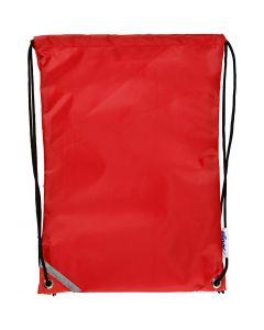 Sacchetto con chiusura a cordoncino, misura 31x44 cm, rosso, 1 pz