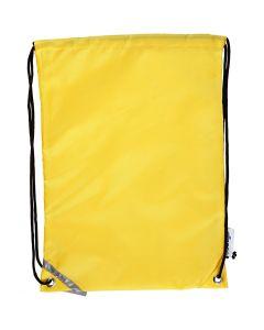 Sacchetto con chiusura a cordoncino, misura 31x44 cm, giallo, 1 pz