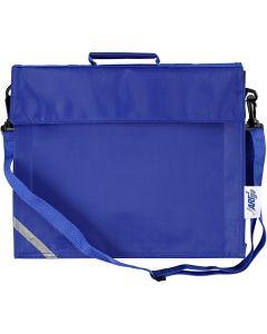 Borsa per la scuola, P 6 cm, misura 36x31 cm, blu, 1 pz