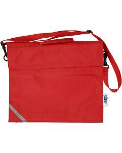 Borsa per la scuola, misura 36x31 cm, rosso, 1 pz