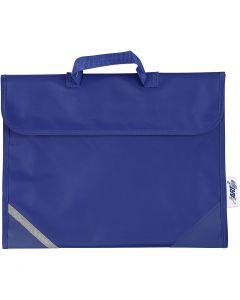 Borsa per la scuola, misura 36x29 cm, blu, 1 pz