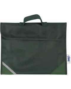 Borsa per la scuola, misura 36x29 cm, verde, 1 pz