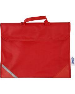 Borsa per la scuola, misura 36x29 cm, rosso, 1 pz