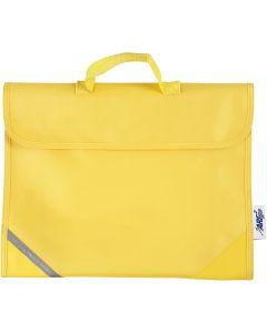 Borsa per la scuola, misura 36x29 cm, giallo, 1 pz