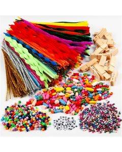 Creazioni con mollette e ciniglia, colori asst., 1 set