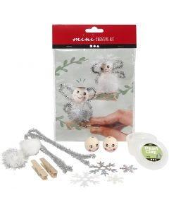 Mini kit creativo, angeli su mollette di legno, 1 set