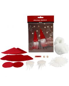 Mini kit creativo, gnomo di Natale, H: 12 cm, 1 set