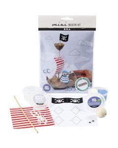 Mini kit creativi, Nave pirata scatola di uova, 1 set