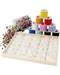 Set bracciale perle con lettere, 1 set