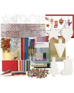 Kit decorazioni natalizie, colori asst., 1 set