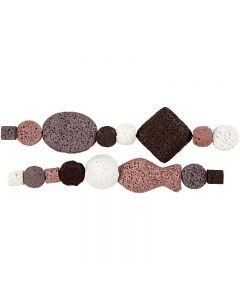 Assortimento perle luxury, diam: 6-37 mm, misura buco 2 mm, rosa antico (25), 1 set