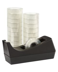 Nastro adesivo con dispenser, L: 15 mm, 1 set