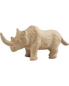Rinoceronte, H: 7,5 cm, L: 18 cm, 1 pz