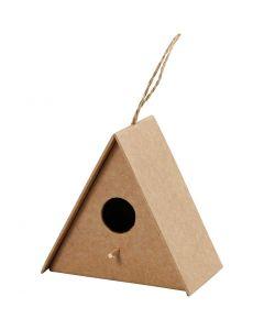 Casetta per gli uccelli, H: 10 cm, misura 10x6 cm, 1 pz