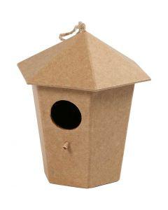 Casetta per gli uccelli, H: 11 cm, misura 11x9 cm, 1 pz