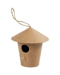 Casetta per gli uccelli, H: 10,5 cm, misura 10,5x11 cm, 1 pz