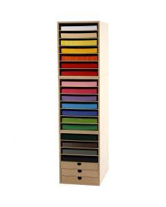 Cartoncini ed espositori, H: 100 cm, A4, 210x297 mm, 180 g, colori asst., 1 set