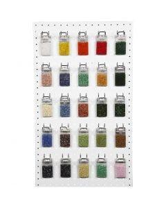 Perline rocaille, colori asst., 50x25 g/ 1 conf.