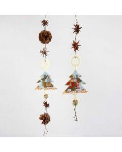 Hanging Decorations with Felt Shapes, natural Materials & Bells