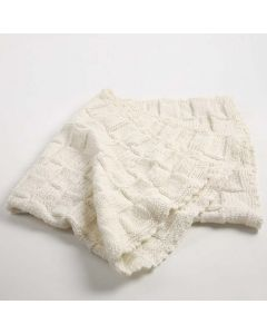 A knitted Baby Blanket
