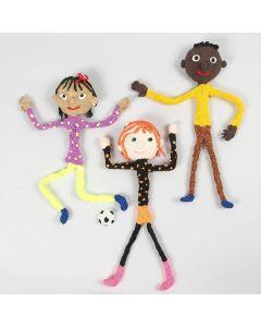 Figure magnetiche con scovolini, Silk Clay e Foam Clay