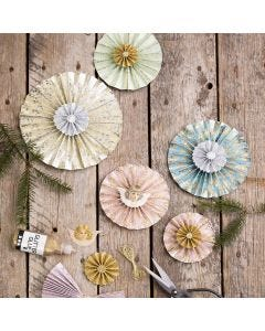 Rosettes made from handmade paper