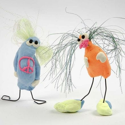 Amusing Silk Clay Creatures