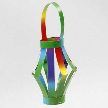 A Lantern made from Rainbow Card