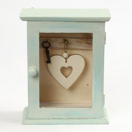 A wooden Key Cabinet, painted with Chalky Vintage Look Paint