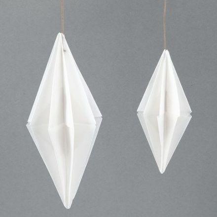 Diamante di carta rettangolare fatto con carta pergamena per origami Vivi Gade Design