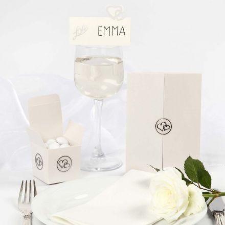 Decorazioni per il matrimonio con lustrini e stickers romantici