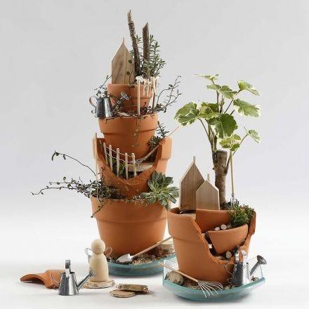 Giardino fatato - un giardino in miniatura