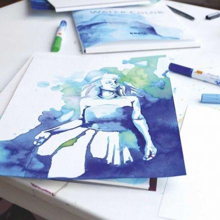 Illustrazione realizzata con pennarelli acquarellabili Watercolour Paint Markers