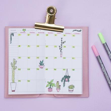 Agenda settimanale decorata per Bullet Journal