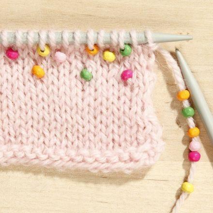 Come lavorare a maglia con le perle