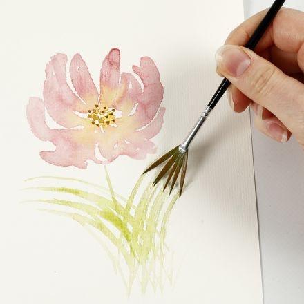 Come dipingere acquerelli con pennellate leggere