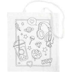 Shopping bag, misura 38x42 cm, 130 g, bianco, 1 pz