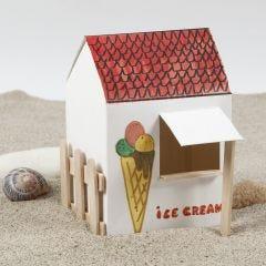 Uno stand del gelato autoassemblante e decorato