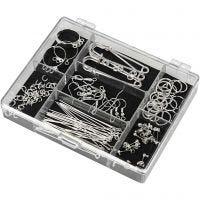 Kit per principianti di materiali di recupero, placcato argento, 1 set