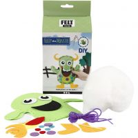 Funny Friends, monster - Fuzzy, misura 21,5x18 cm, verde, 1 set