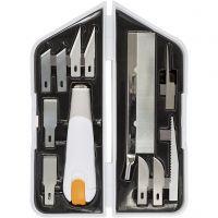 Set di coltello, scalpello e seghetto, L: 15 cm, L: 3 cm, 1 set